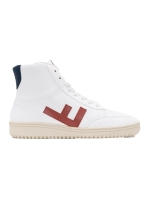 Old 80s Boots, white-red monocolor