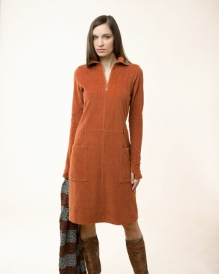 Cord Dress, maron