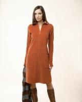 Cord Dress, maron M