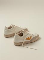 Retro 90s Sneaker, white-yellow monocolor